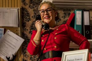 Vanessa Wunderli beim letzten Konzert in ihrer Rolle als Fränzi Tobler