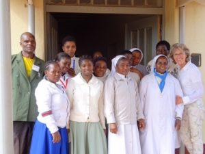 Krankenhauspersonal in Uwemba