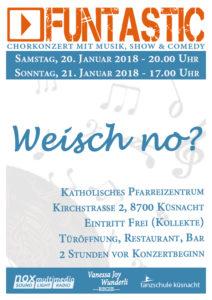 Flyer funtastic-Konzert 2018