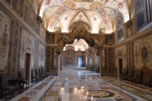 Ein Blick in den apostolischen Palast