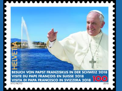 Briefmarke anlässlich Papstbesuch