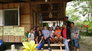 Karl Wolf in der Pfarrei auf den Philippinen