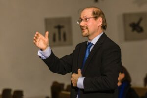 Joachim Schwander am Dirigentenpult