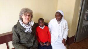 Claudia Antonini mit Schwester Agape und Patientin Uwemba Hilfsprojekt Küsnacht