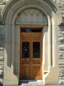 Pfarrhaus-Eingangstuere