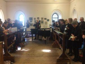 Intensive Proben mit Dirigent